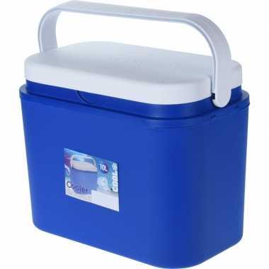 Goedkope koelbox kunststof blauw liter
