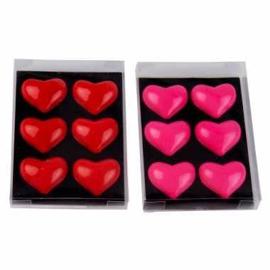 Goedkope koelkast /magnetron magneetjes hartvormig roze