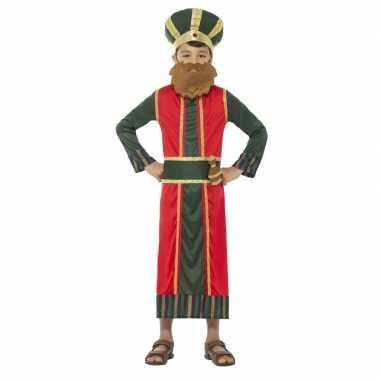 Goedkope koning caspar kostuum jongens koningen kerst kostuum