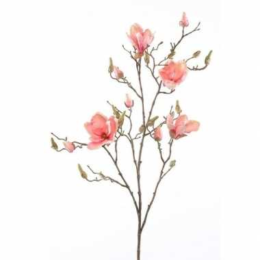 Goedkope kunstbloem magnolia tak zalmroze