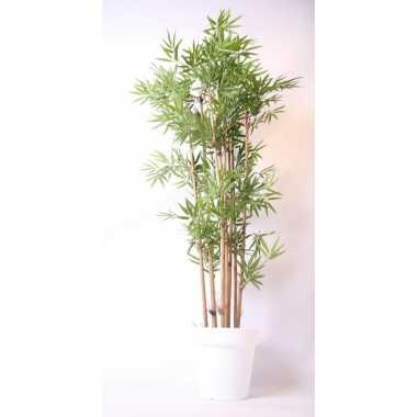 Goedkope kunstplant bamboe witte pot