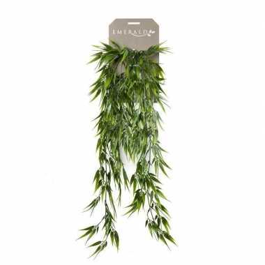 Goedkope kunstplant groene bamboe hangplant/tak
