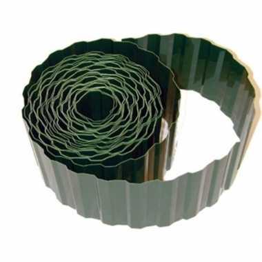 Goedkope kunststof gazonrand / tuinafboording groen m