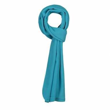 Goedkope lange turquoise fleece sjaal volwassenen