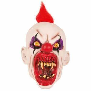 Goedkope latex horror masker enge clown punky