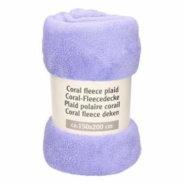 Goedkope lavendel fleece deken