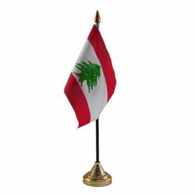 Goedkope libanon tafelvlaggetje standaard
