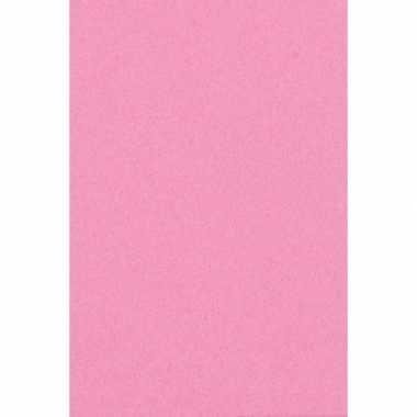 Goedkope licht roze papieren tafelkleed