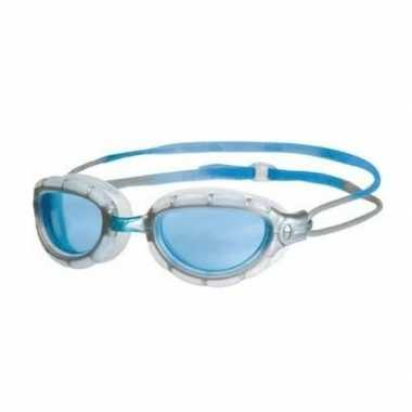 Goedkope lichtblauwe anti chloor zwembril volwassenen