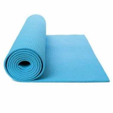 Goedkope lichtblauwe yogamat/sportmat