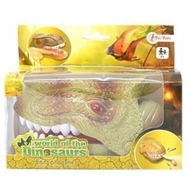 Goedkope lichtgroene dinosaurus bijtspel