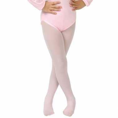 Goedkope lichtroze verkleed panty/maillot meisjes/kinderen