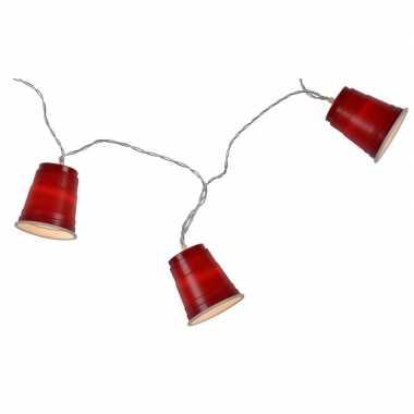 Goedkope lichtsnoer/lichtslinger red cups , meter