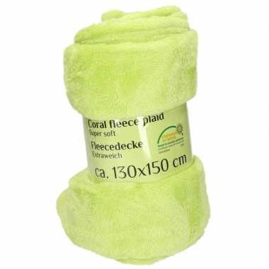 Goedkope lime fleece deken