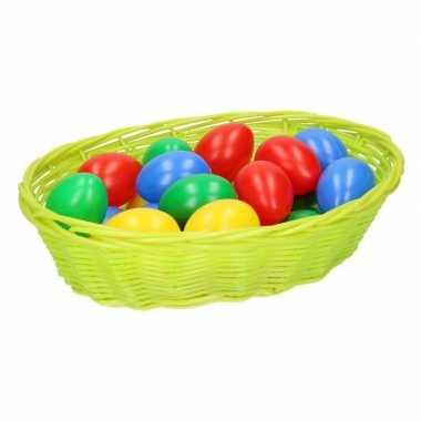 Goedkope lime paasmandje eieren