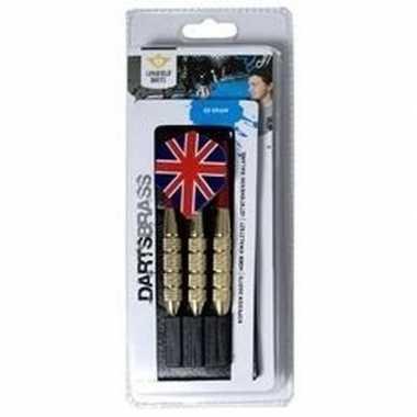 Goedkope longfield dartpijltjes set grams engelse/britse vlag