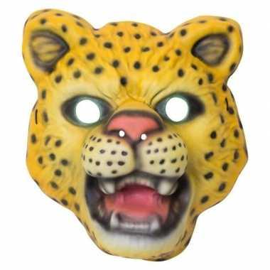 Goedkope luipaard/panter verkleed dierenmasker kinderen