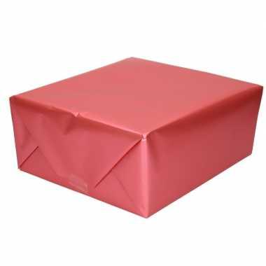 Goedkope luxe inpakpapier/cadeaupapier fuchsia roze zijdeglans c