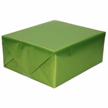 Goedkope luxe inpakpapier/cadeaupapier groen zijdeglans