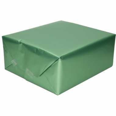 Goedkope luxe inpakpapier/cadeaupapier jadegroen zijdeglans