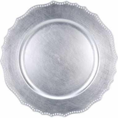 Goedkope luxe onderzet bord zilver cm