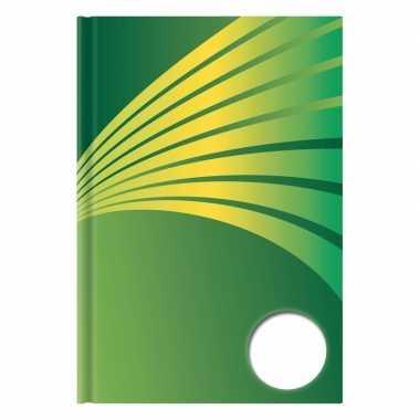 Goedkope luxe schrift a formaat groene harde kaft