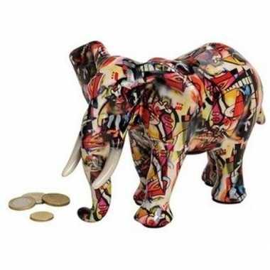 Goedkope luxe spaarpot olifant rood keramiek