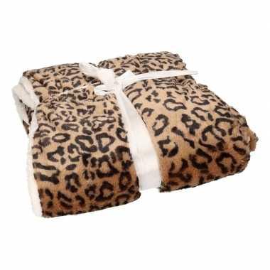 Luxe vachtdeken bruine cheetah goedkope
