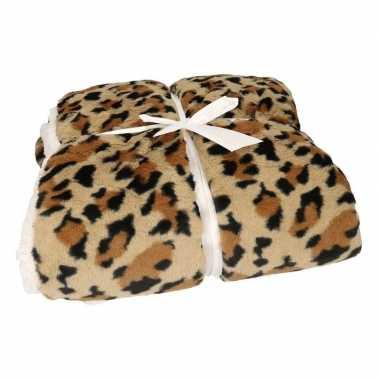 Goedkope luxe vachtdeken luipaardvlekken