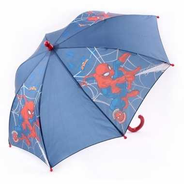 Goedkope marvel kinderparaplu spiderman blauw