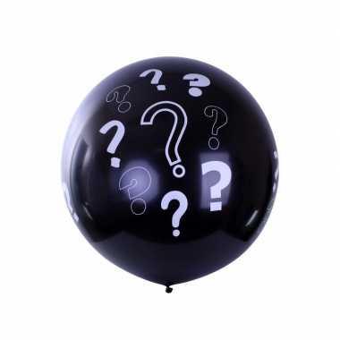 Goedkope mega ballon zwart vraagtekens