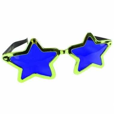 Goedkope mega groene sterren verkleed bril volwassenen