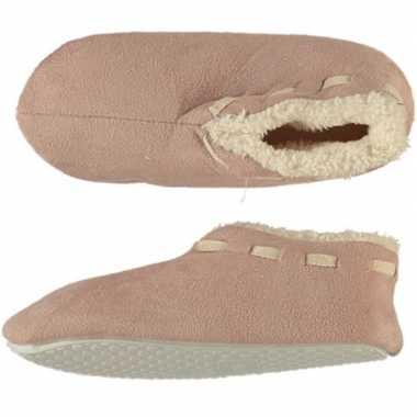 Goedkope meisjes spaanse sloffen/pantoffels beige maat