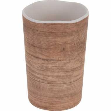 Melamine drinkbeker/mok houtgoedkope