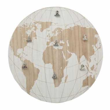 Goedkope memobord wereldbol/aarde hout