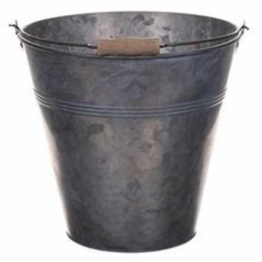 Goedkope metalen emmer grijs liter
