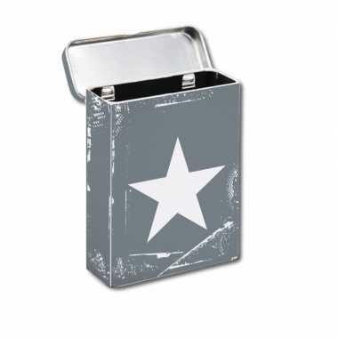 Goedkope metalen sigaretten box grijs