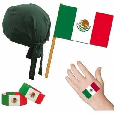 Goedkope mexico/mexicaans thema verkleed set volwassenen