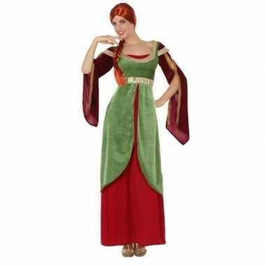 Goedkope middeleeuwse jonkvrouw/prinses verkleed kostuum dames