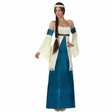 Goedkope middeleeuwse prinses verkleed jurk dames