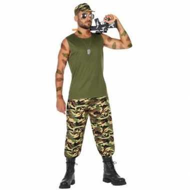 Goedkope militair/soldaat verkleed pak/kostuum heren