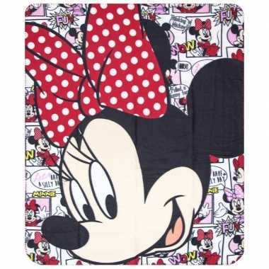 Goedkope minnie mouse cartoon fleece deken meisjes