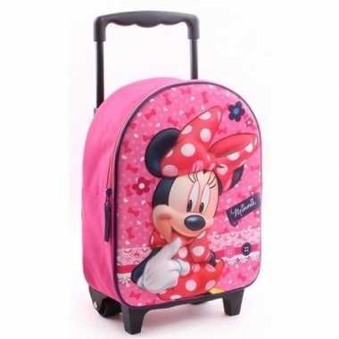 Goedkope minnie mouse handbagage reiskoffer/trolley kinderen