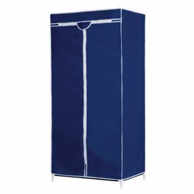 Goedkope mobiele opvouwbare kledingkast blauwe hoes