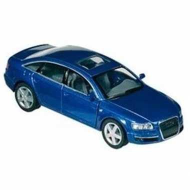 Goedkope modelauto audi a blauw :