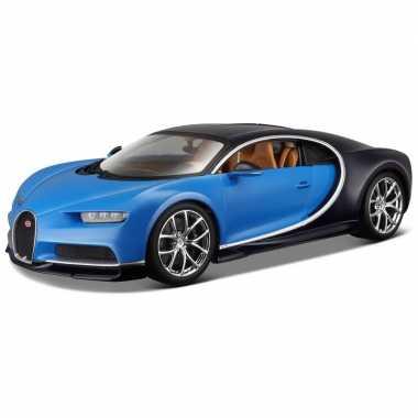 Goedkope modelauto bugatti chiron : blauw