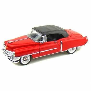 Goedkope modelauto cadillac eldorado rood gesloten cabrio :