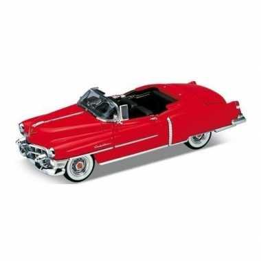 Goedkope modelauto cadillac eldorado rood open cabrio :