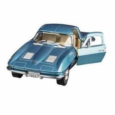 Goedkope modelauto chevrolet corvette blauw