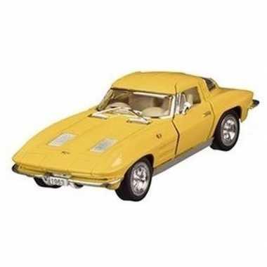 Goedkope modelauto chevrolet corvette geel